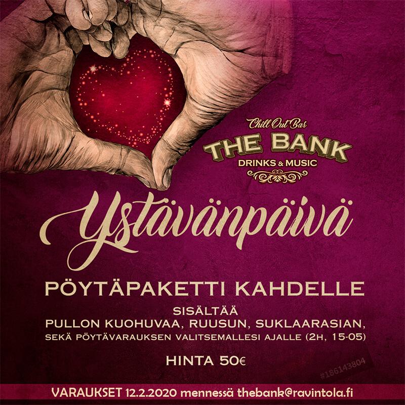 Ystävänpäivä The Bank ravintola Kouvola